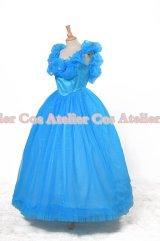 2015映画 シンデレラ 青いドレス 01 風 コスプレ 衣装 通販 オーダーメイド