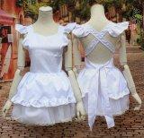 ホワイトの萌え系メイド 風 コスプレ 衣装 通販 オーダーメイド