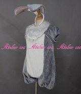 イースターワンダーランド風 とんすけ タイプ 着ぐるみ miss bunny グレー 風 コスプレ 衣装 通販 オーダーメイド