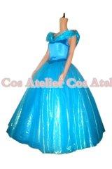 2015映画 シンデレラ 青いドレス 02 風 コスプレ 衣装 通販 オーダーメイド